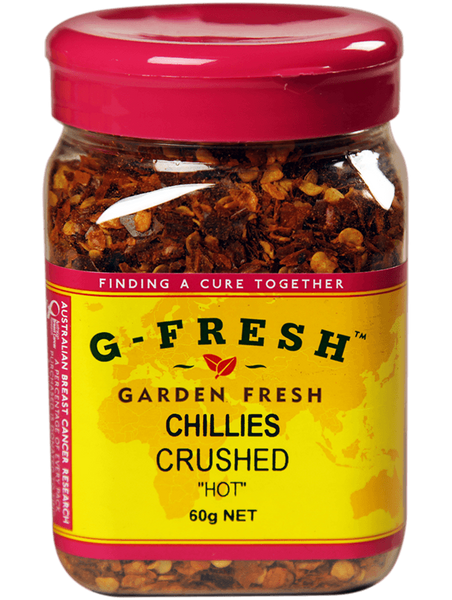 Chillies Crushed 'HOT' 60g