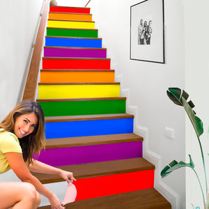 LGBT Inspired House Stair Sticker - NS04
