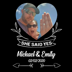 SHE SAID YES - PERSONALIZED COUPLE LED FRAME - NLF34