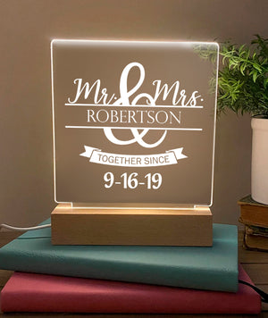 Personalized Mr & Mrs LED Lamp - NLL27