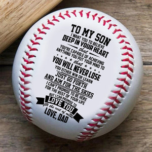 To My Son, Love Dad Baseball Ball Gift