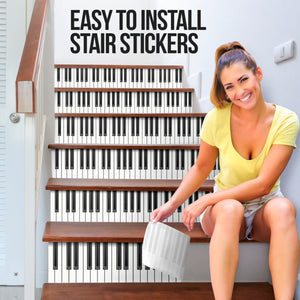 Piano Inspired House Stair Sticker - NS09