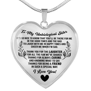 To my Unbiological Sister Heart Necklace - SO06