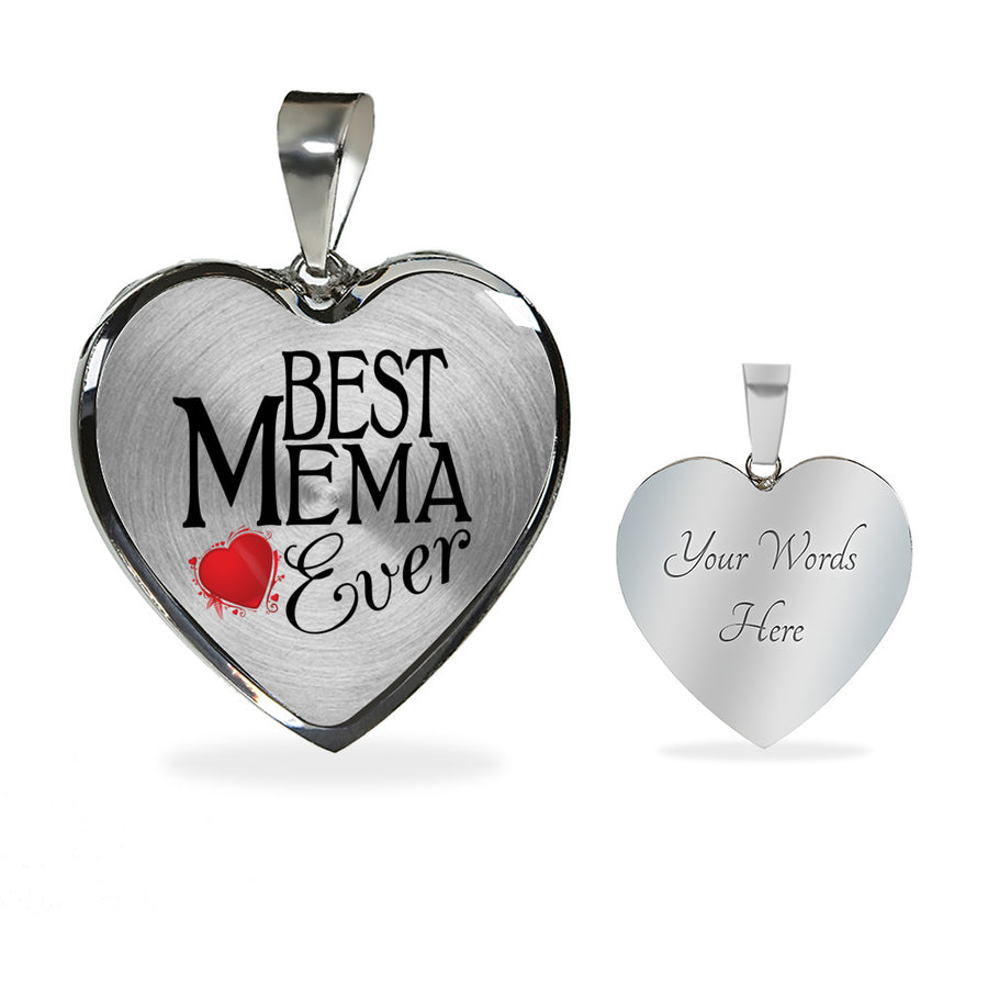 Best Mema Ever (Personalised) Necklace