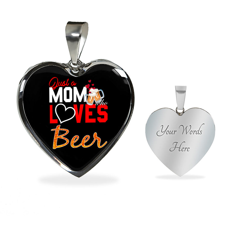 BEER Mom Lovers PERSONALISED LUXURY NECKLACE