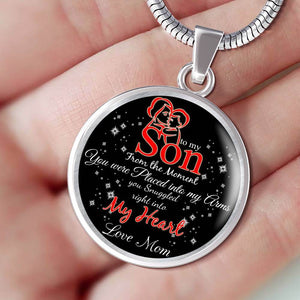 To My Son - Love Mom Necklace