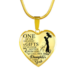 One of the Greatest Gift (Daughter) - Love Dad (Gold)