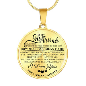 To My Girlfriend - Luxury Necklace
