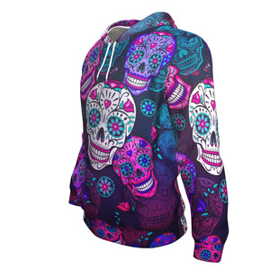Skull All Purple Hoodie
