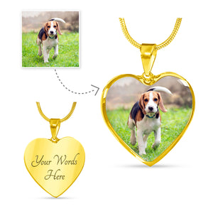 BEAGLE LOVERS PERSONALISED HEART LUXURY NECKLACE
