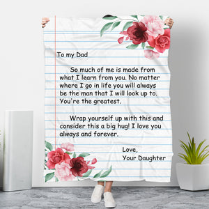 To My Dad - Love Daughter Blanket - NLB02