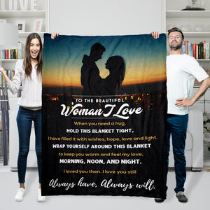 TO THE BEAUTIFUL WOMEN I LOVE MESSAGE BLANKET- FLB189