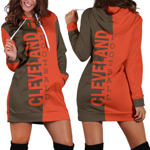 Cleveland Browns Fans Hoodie Dress