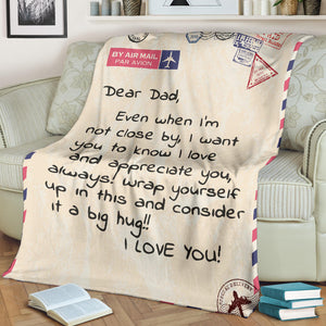 Dear Dad Message Blanket