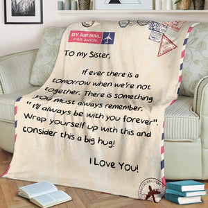 To my Sister - I love you Message Blanket - FLB078