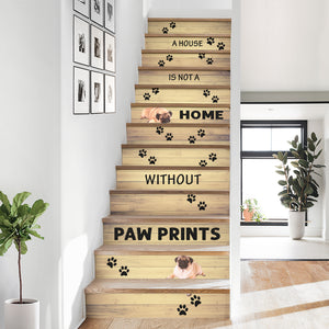 Pug Inspired Stair Stickers 13 pcs - NS03