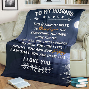 TO MY HUSBAND - MESSAGE BLANKET - FLB150