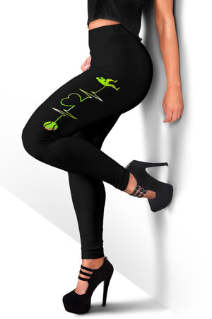 Softball Heartbeat Leggings