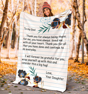 TO MY DAD - LOVE DAUGHTER BLANKET - NLB04