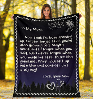 To My Mom - Love Son Blanket