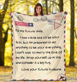 To my Future Wife Message Blanket - FLB104