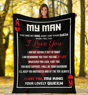 To my Man Message Blanket - FLB172