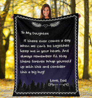 To my Daughter - Love Dad Message Blanket - FLB047