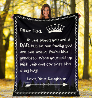 Dear Dad - Love Daughter Blanket 2