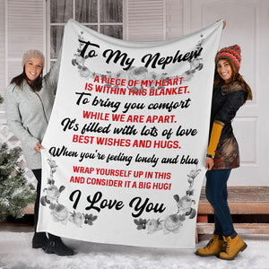 To my Nephew - I love you Message Blanket - FLB113