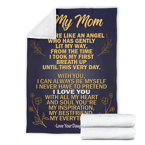 To my Mom - Love Your Daughter Message Blanket - FLB185