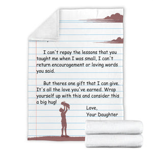 TO MY DAD - LOVE DAUGHTER BLANKET - NLB03