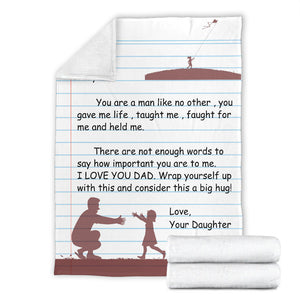 TO MY DAD - LOVE DAUGHTER BLANKET - NLB05