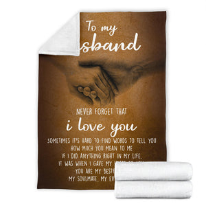 To my Husband Message Blanket - FLB110