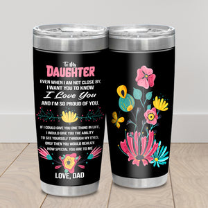 TO MY DAUGHTER LOVE DAD - TUMBLER NT-16