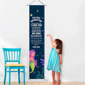 To My Daughter Love Dad - Canvas Growth Chart - GC02