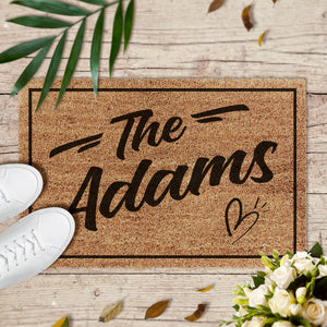 Personalized Family Name Doormat NR-01
