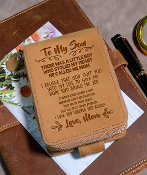 To My Son Love Mom 5- Wallet NLZW - 10