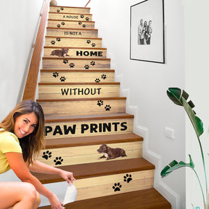 Pitbull House Stair Sticker - NS02