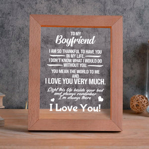 To My Boyfriend - I love you LED FRAME - NLF01