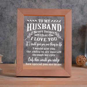 To My Husband 2 LED FRAME - NLF26