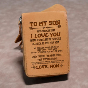 To My Son Love Mom 1 - Wallet NLZW - 02