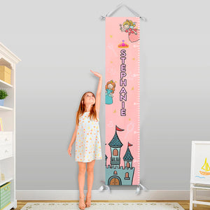 Customized Name  - Canvas Growth Chart for your Daughter- GC06