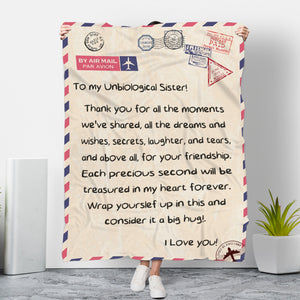 To My Unbiological Sister Message Blanket