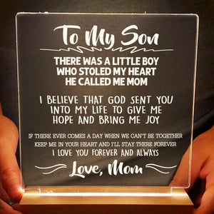 To My Son Love Mom LED Lamp - NLL29