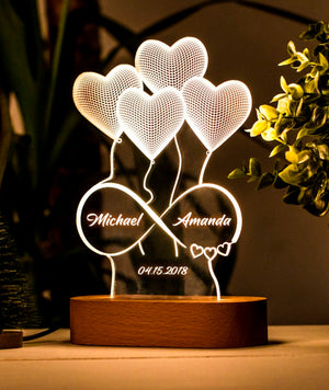 Infinity Heart Custom Led Lamp