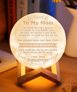 To My Mom - Love Your Daughter Moon Lamp NML-08