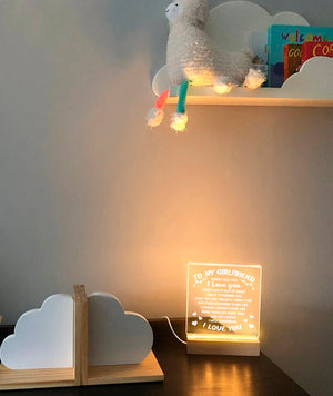 To My Girlfriend - I love you LED Lamp - NLL16