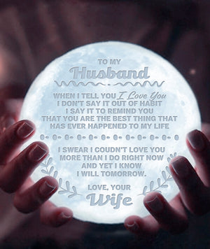 To My Husband - Love Your Wife Moon Lamp NML-07