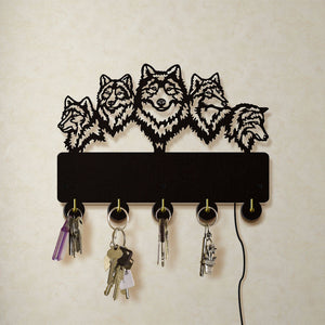Wolf Family LED Wall Hook