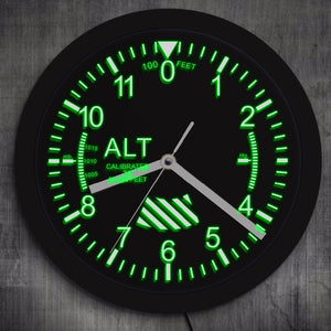 Altimeter LED Wall Clock